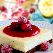 Cranberry Lemon Bars Vegan - Gluten Free