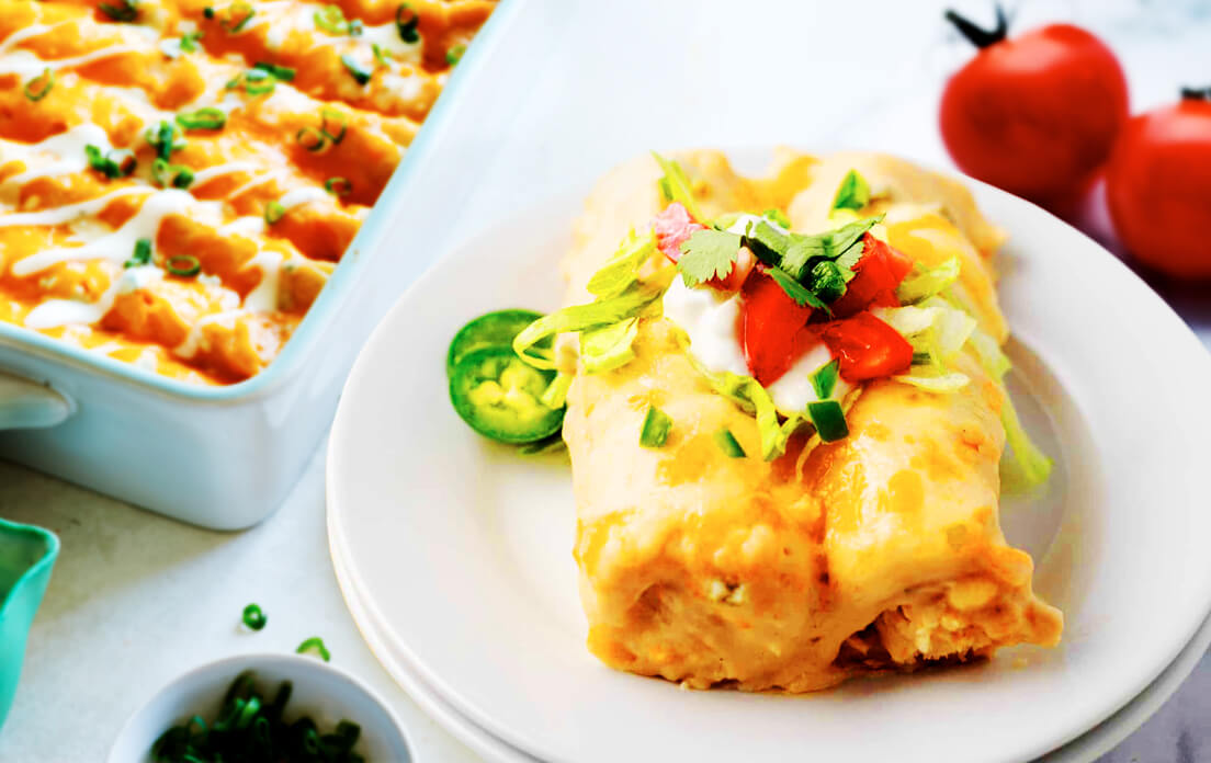 How To Make Cream Cheese Chicken Enchiladas Easy Recipe