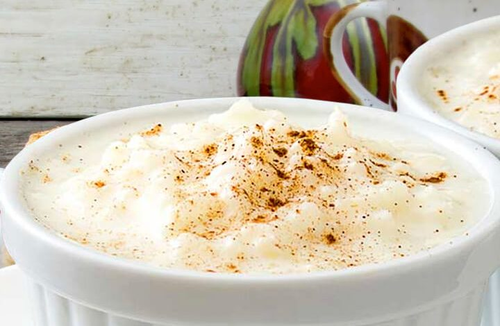 Easy Good Old Fashioned Baked Rice Pudding With Cooked Rice Recipe