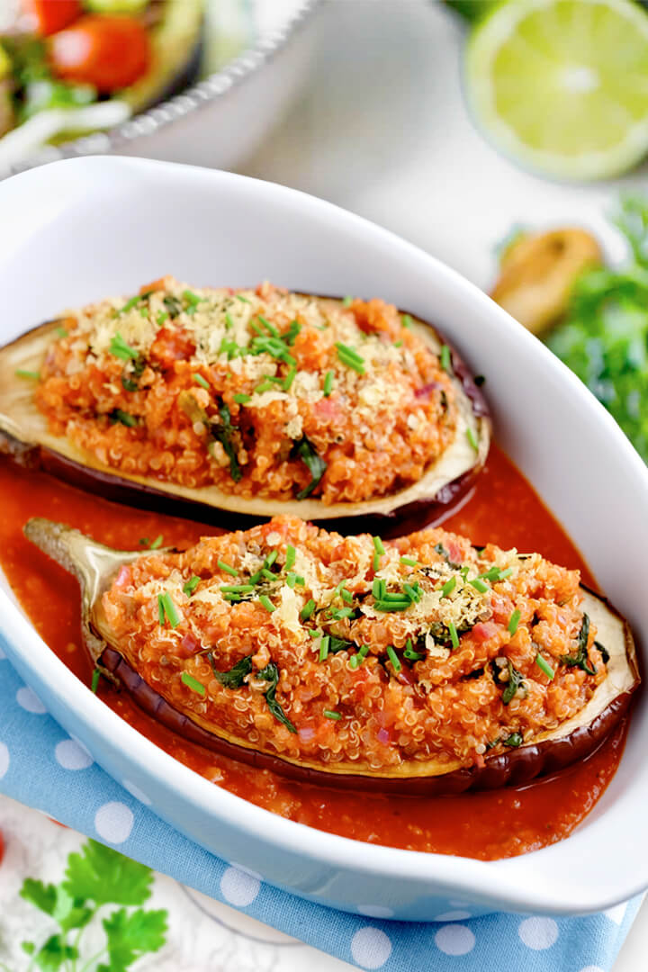 Easy Keto Stuffed Eggplant