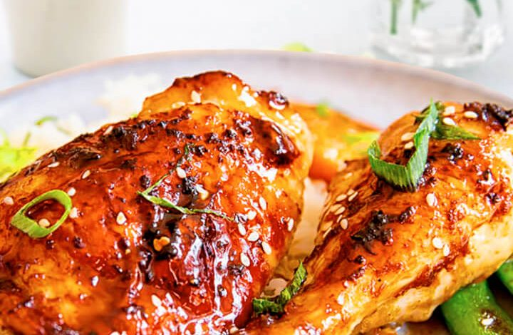 Easy Sticky Baked Chicken Thighs in Oven