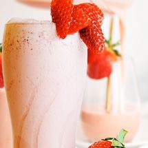 Japanese Strawberry Milk - Keto Strawberry Smoothie