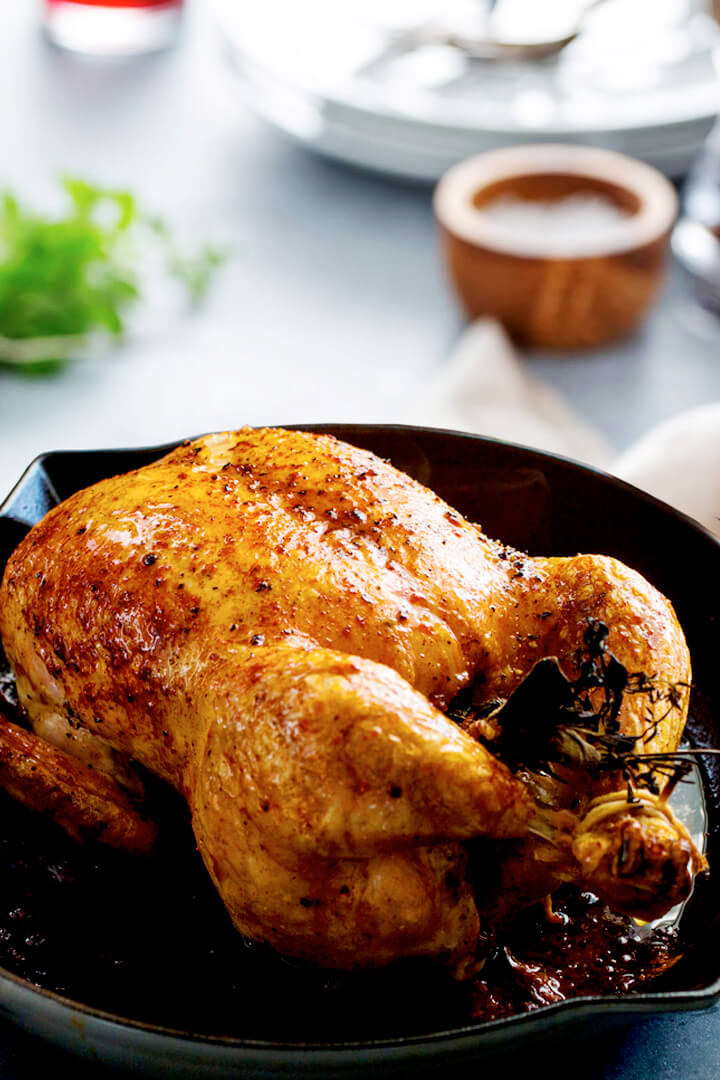 Perfect Dutch Oven Whole Roast Chicken