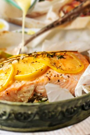 baked salmon recipes with lemon capers garlic