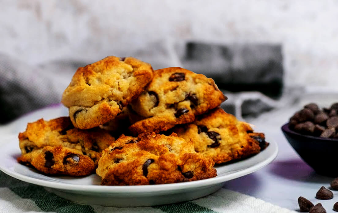 Keto Chocolate Chip Cookies With Monk Fruit Sugar