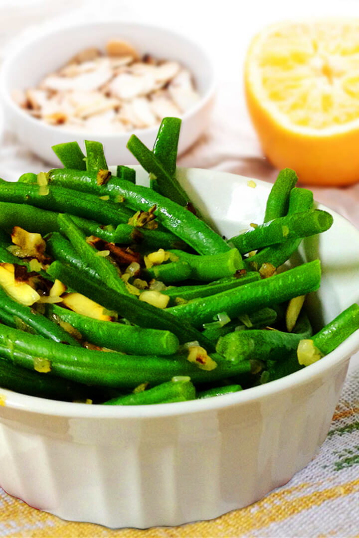 taste of home green bean almondine recipe