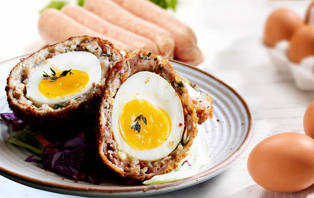 ingredients Baked Scotch Eggs How to Cook easy Recipe